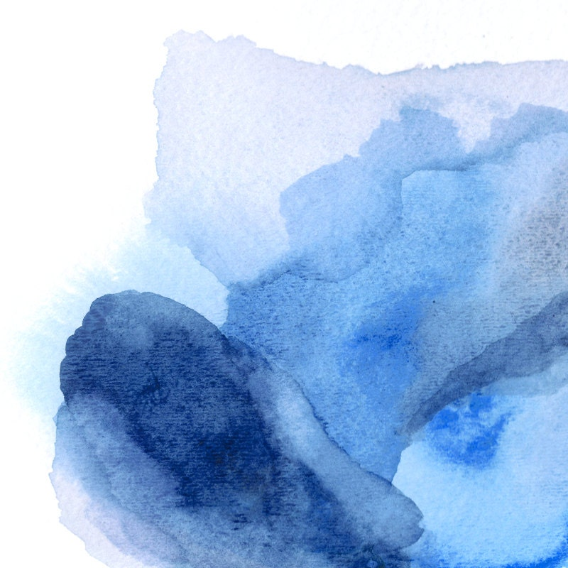 Huge painting abstract print blue abstract art print large for Blue paintings on canvas