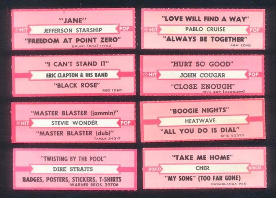 Retro jukebox labels collage mixed media altered by rubydogart for Jukebox labels template