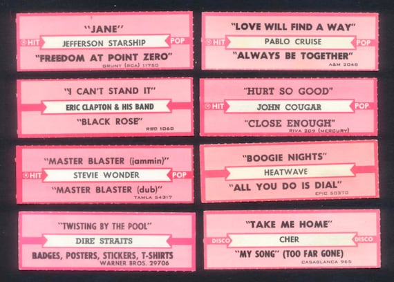 jukebox labels template - retro jukebox labels collage mixed media altered by rubydogart