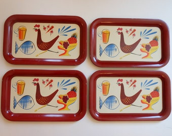 Retro Rooster and Kitchen Fare trays-4