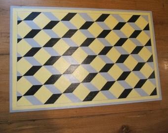 Tumbling Blocks Floor Mat
