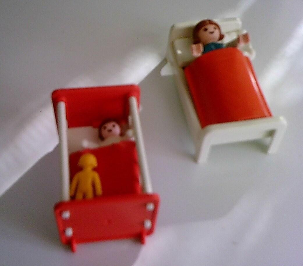 Vintage playmobil 1981 set geobra kinderzimmer mit kinder und for Kinderzimmer playmobil