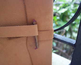 Handmade Leather Journal & Sketchbook with Bead Closure