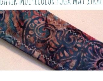 Batik Multicolor Yoga Mat Strap