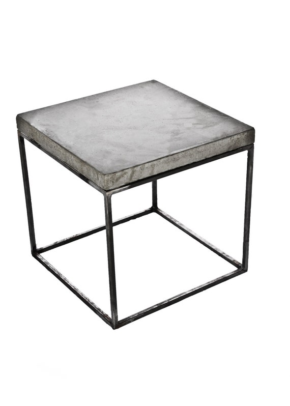Concrete topped 23 5 extra tall bedside table night for Extra tall nightstands
