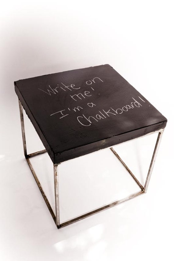 Extra tall nightstand 23 5 chalkboard coated by for Extra tall nightstands
