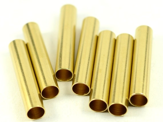 Pieces raw brass industrial mm tube spacers from