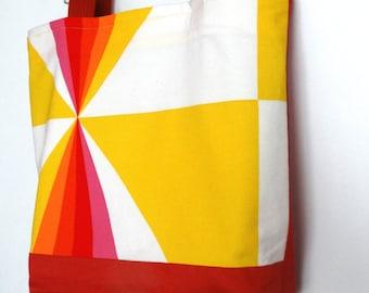 Tote bag  Beach bag Sea bag  Large Bag Cotton fabric  bag Colorful  bag
