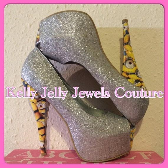minion glitter high heels size uk 3 8 us by