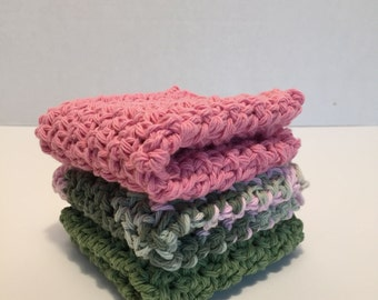 Set of 3 Dishcloths/Washcloths