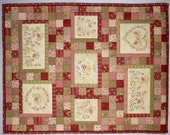 The Honeydrippers stitchery small quilt pattern