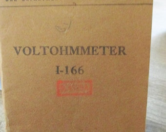 War Dept Technical Manual of Voltohmmeter  dated May  1944