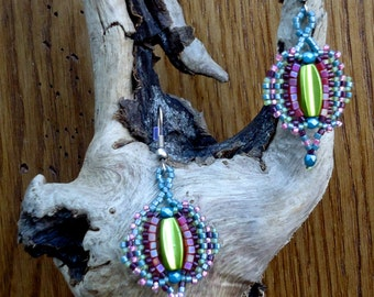 Rainbow earrings - unique Creation made in FRANCE