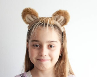 Lion Ears Headband, Animal Ears Head Band, Children's or Adult's Photo Prop, Cosplay, Pretend Play
