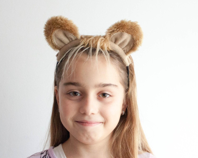 Lion Ears Headband Animal Ears Head Band Childrens or
