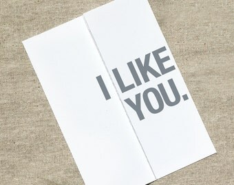 I Like You - I Like...Like You Like You - Happy Anniversary Card - Funny Birthday Card - Funny Valentines Day Card