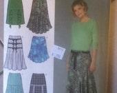 """Simplicity Skirt Variations Pattern 4753 Size: 14-22, Bust 36""""-44"""", Waist  28""""-37"""", Hip  38""""46"""""""