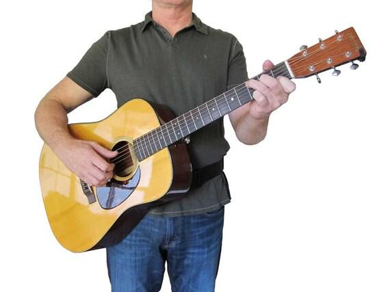 acoustic guitar strap for the waist that removes the shoulder. Black Bedroom Furniture Sets. Home Design Ideas