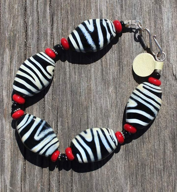 Zebra Print Bracelet Zebra Bracelet Animal Print Jewelery