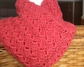 Merino Wool  and Silk  blend Cowl  in Guava