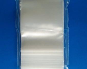 """100 Zip lock clear reclosable jewelry bags 2 mil 1.5""""x2"""", 2x2, 2x3, 3x3, 3x4, 3X5, 4X4 Ziplock Assorted Sizes"""