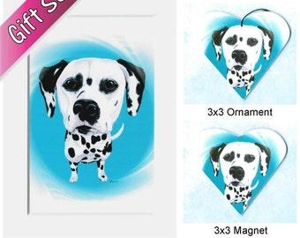 Dalmatian - Dalmatian Art - Dalmation - Dalmation Art - Dalmatian Ornament - Dalmatian Magnet - Dalmatian Painting - Weeze Mace