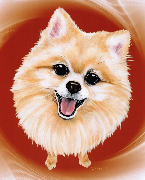 Pomeranian Pomeranian Art Pomeranians Pet By Artbyweeze On