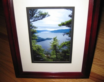 photograph lake george n y framed in a stand up desk or shelf frame but can be hung frame is 10 x 12 image is 5 x 7