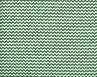 Mini Chevron ---  Kelly Chevron Fabric --- Cotton Fabric --- Fabric by the Yard