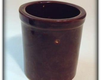Vintage Small Brown Crock/Jar