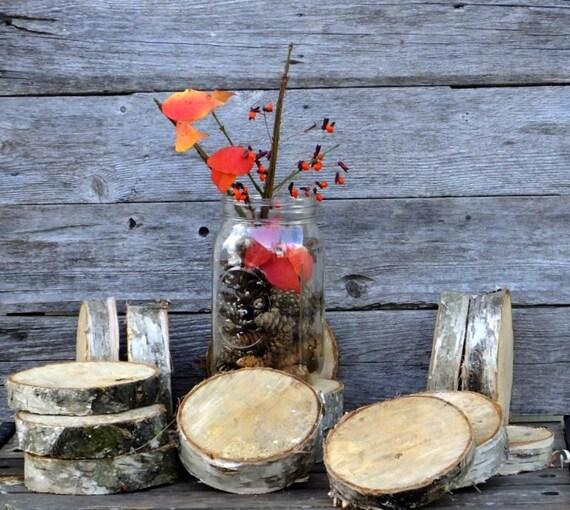 White birch wood slices 4 4 1 2 diameter by for White birch log crafts