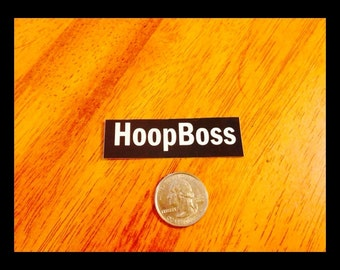 Hoop Boss Sticker - Great Hula Hoop Stickers - From Colorado Hula Hoops