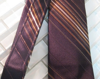 Gold Black NEcktie Gradient Stripe Tie Countess Mara New York