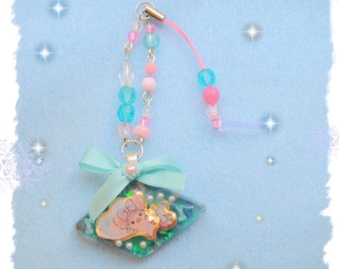 San X Piggy Girl Resin Cell Phone Charm