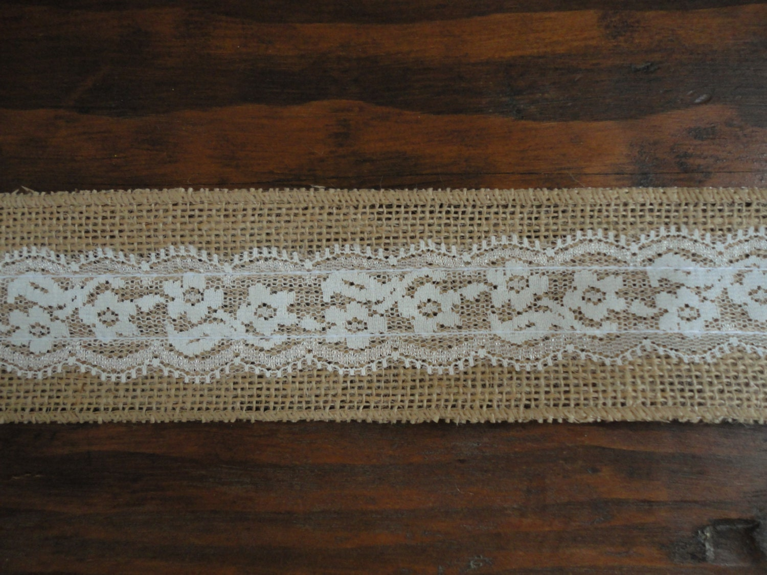 2 5 inch burlap ribbon with white lace overlayburlap lace for How to use burlap ribbon