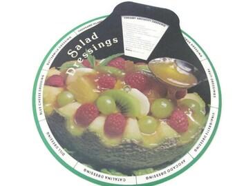 Vintage Recipe Wheel, 1980's Cardboard Recipe Wheel, Salad Dressing Recipes, Sandwich Spread Recipes, Old Recipes