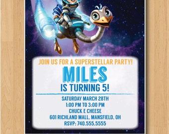 Miles from Tomorrowland Birthday Invitation - Printable/Digital File