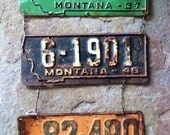 Vintage License Plate Wall Hanging