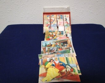 Vintage Fairy Tale Puzzle Blocks made in West Germany
