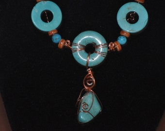 turquoise and copper wire
