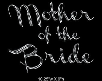 Mother of the Bride, Iron on Rhinestone Transfer