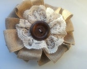 Rustic Shabby Chic hair clip and brooch