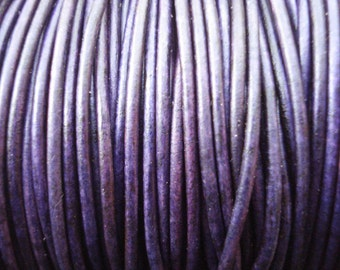 1.5mm purple leather cord, natural violet leather