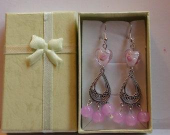 Handmade earrings. Gemstone earrings.Women's jewelry.Women's earrings.Chandelier earrings.Long earrings.