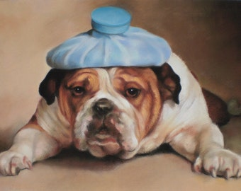 Custom Pastel Portrait Painting of Pet This painting is created from your photos