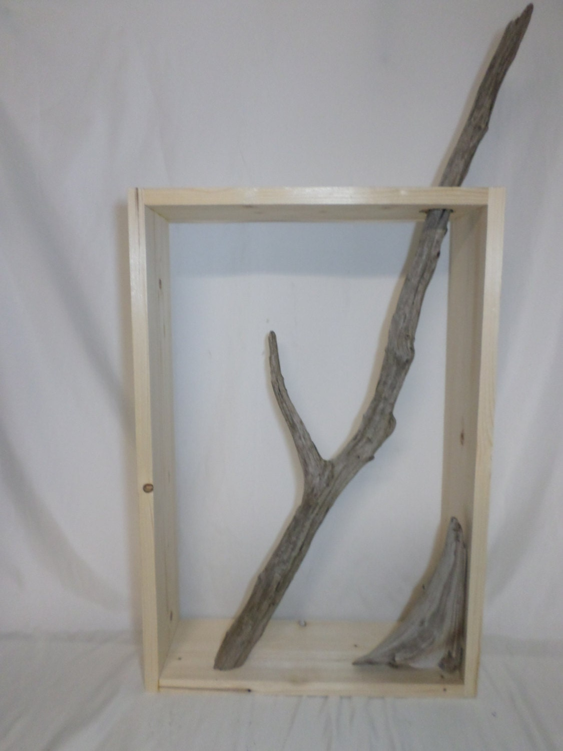 Decorative driftwood wall art unfinished craft project for Driftwood wall decor
