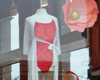 4 Giant Paper Poppy Peony Flowers