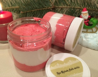 NORTH POLE--Limited Edition  Lux Whipped Creamy Soap In A Jar- Holiday Scented  8 fl Features Argan Oil
