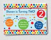 Bouncy Ball Birthday Party Invitation - Bouncy Ball Birthday Party - Digital Design or Printed Invitations - FREE SHIPPING