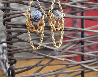 SALE Volcanic Chandelier Earrings